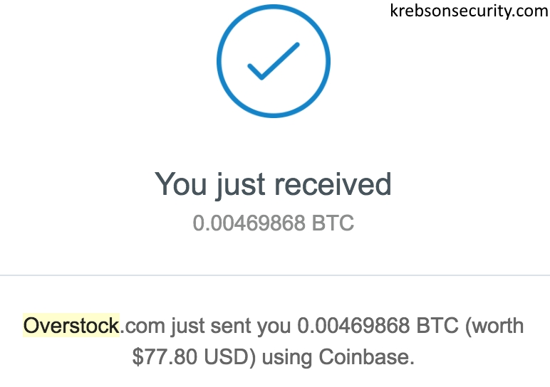 bitcoin refund address coinbase