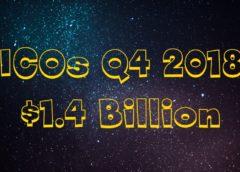 1.4 Billion Raised via ICOs in Q4 2018