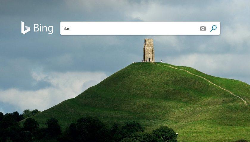 Bing ads ban
