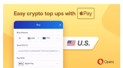 You can now buy Bitcoin with Apple Pay through Opera in the US